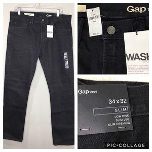 Gap 1969 NWT Black Men's Denim Jeans 34 x 32